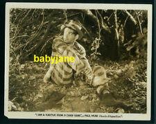 PAUL MUNI VINTAGE 8X10 PHOTO 1932 I'M A FUGITIVE IN A CHAIN GANG