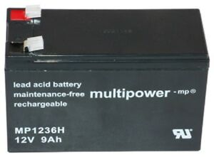 Multipower Blei Akku MP1236H Pb 12 V 9 Ah UP-VW1245P1 12FGH36 FGH20902 Hochstrom