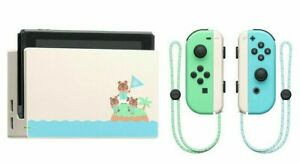 Nintendo-Switch-Animal-Crossing-Dock-Joy-Con-2-juego-nuevos-horizontes-HORI