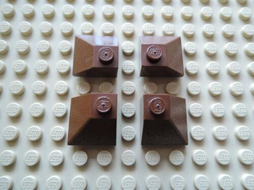 Lego 4 x Dachstein Ecke Außenecke 3045  45° 2x2 alt braun