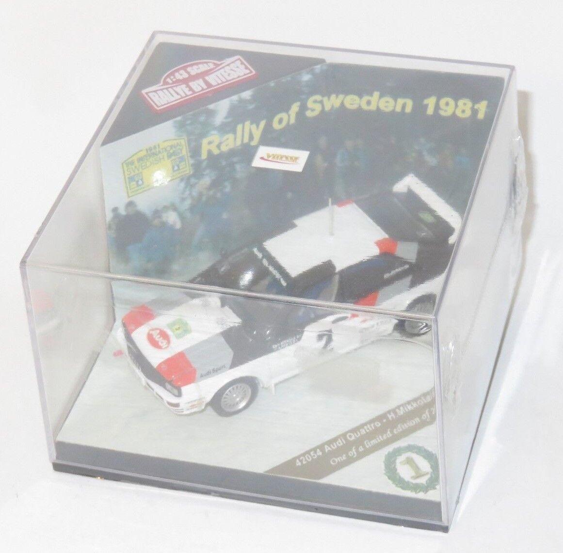 1 43 Audi Quattro A1   Audi Sport  Winner Rally Sweden 1981  H.Mikkola   A.Hertz