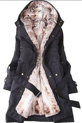 Hot Womens Thicken Warm Winter Coat Hood Parka Overcoat Long Jacket Outwear
