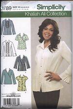 Simplicity 3789 Sewing Pattern Khaliah Ali Misses' Tops B C D Cups Sizes 6 - 14