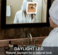 Makeup Mirror Beauty Face Eyeliner Eyebrows Led Light Bathroom Travel Women on Sale