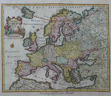 Novae Europae Delineatio - Seltene Karte von Europa - Peter Conrath Monath -1760