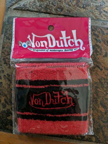 Wristband Authentic Red /& Black NEW Von Dutch Sweatband 1 Per Pack