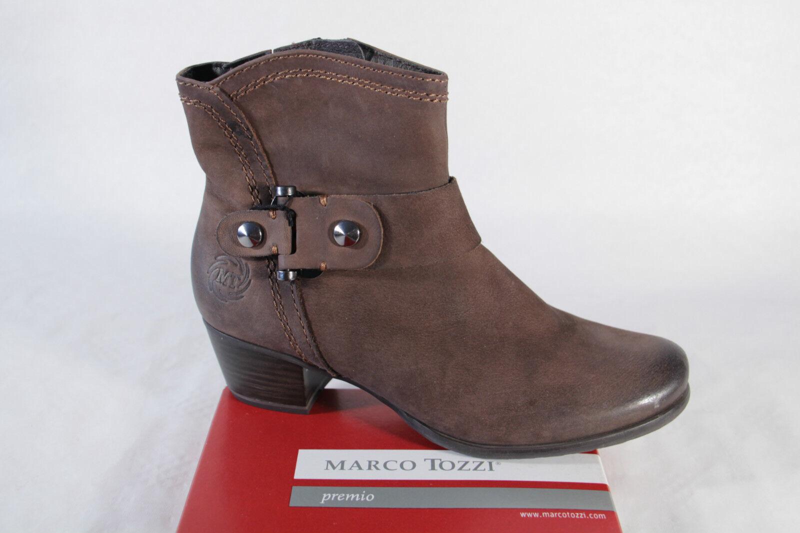 Marco braun Tozzi Damen Stiefel Stiefelette braun Marco weiches Oberleder NEU 01733f