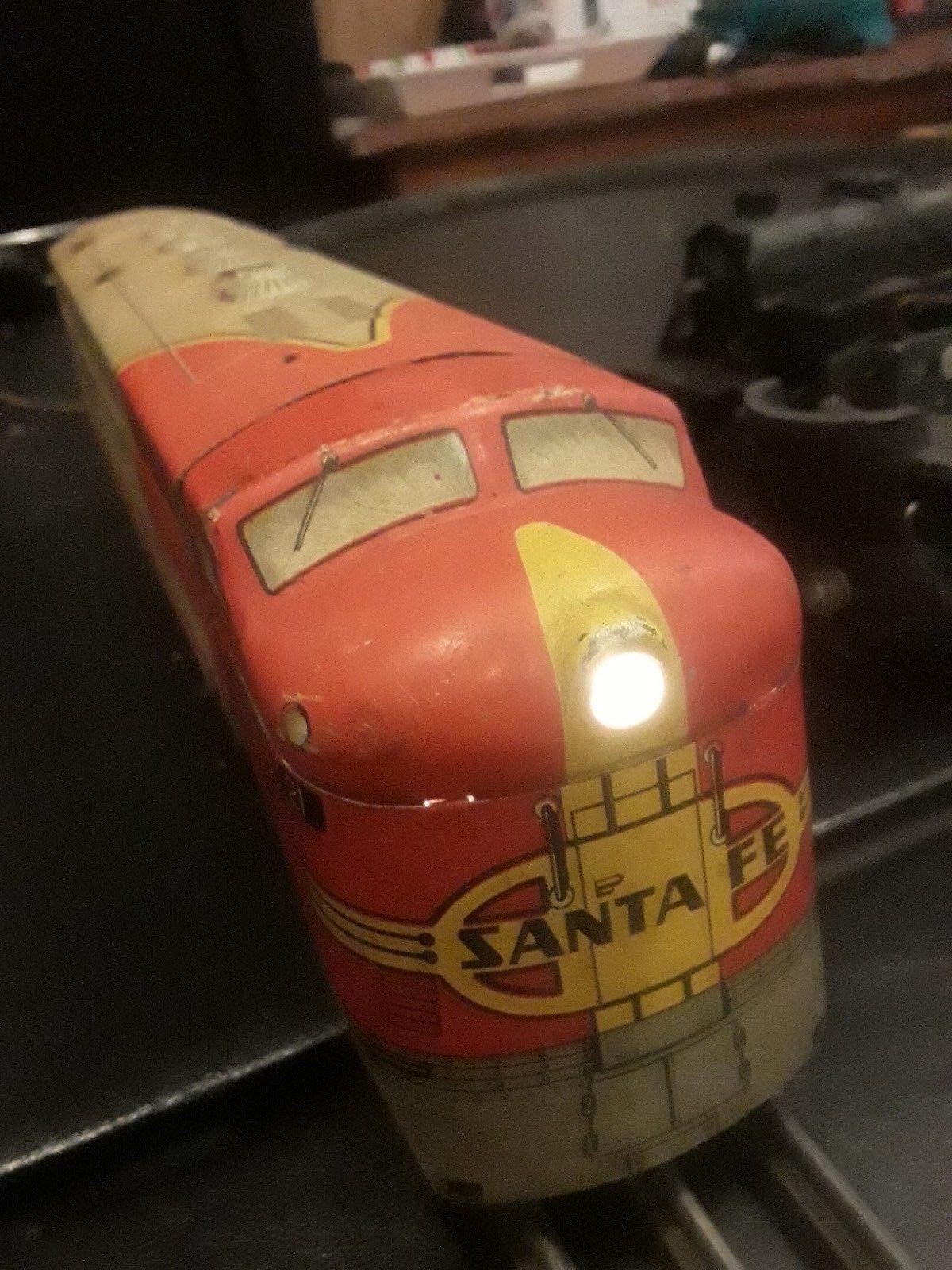 Marx-Santa Fe 21 Locomotora Diesel con set ficticio