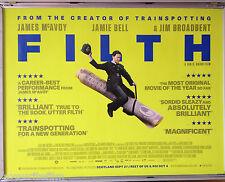 Cinema Poster: FILTH 2013 (£20 Note Quad) Imogen Poots James McAvoy Jamie Bell
