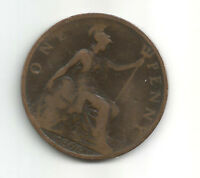 GB/UK 1896 VICTORIA  One Penny  Veiled Head