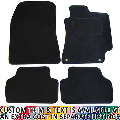 Black JVL Fully Tailored Car Mat Set with 4 Clips 4 Pieces
