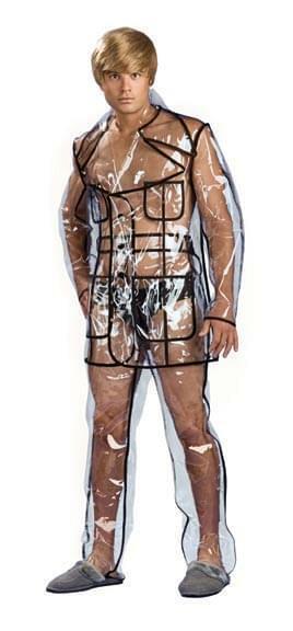 Bruno Clear Vinyl Suit Costume Adult Large