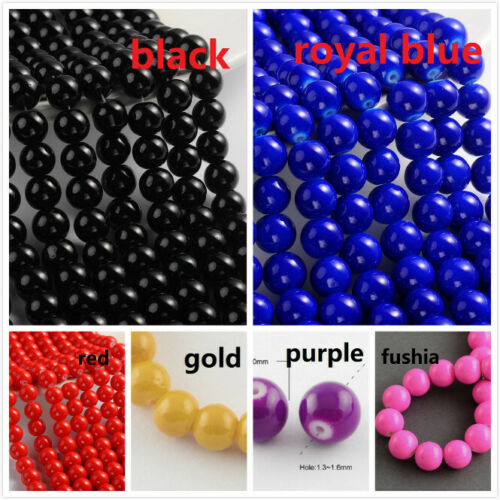 80pcs -pls pick a color 1 strand 31 inch dyed baking glass beads 10mm