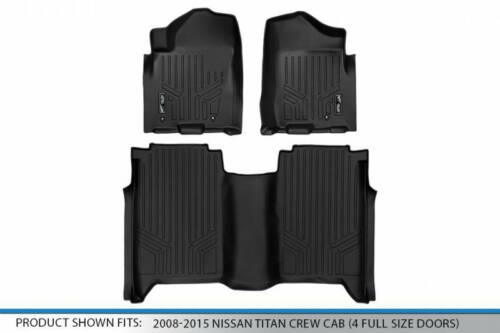 Maxliner 08-15 Fits Nissan Titan Crew Cab 2 Row Floor Mats Set Black A0275//B0275