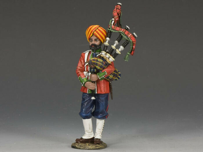KING & COUNTRY SONS OF EMPIRE SOE018G LUDHIANA SIKHS REGT. BAGPIPER MIB