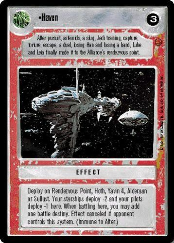 Star Wars CCG Reflections I VRF Very Rare Foil Haven