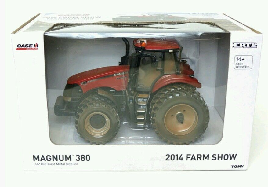 ERTL CASE IH MAGNUM 380 TRACTOR WITH DUALS 1 32 SCALE - DUSTY 2014 FARM SHOW