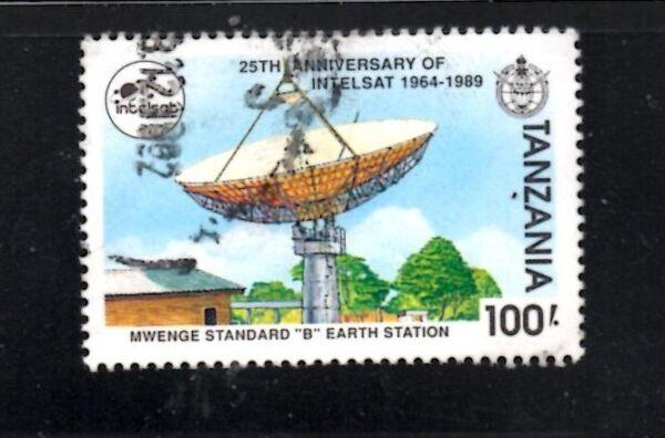 Bien Informé Stamps Tanzania A115 #741 Intelsat 25th Anniv Promouvoir La Production De Fluide Corporel Et De Salive