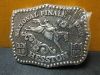 1986 Vintage Hesston National Finals Rodeo Youth Size Belt Buckle Free Shipping