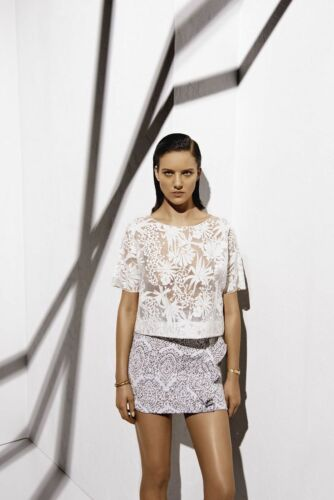 Maje Luxuriant Sheer Embroidered Organza Top