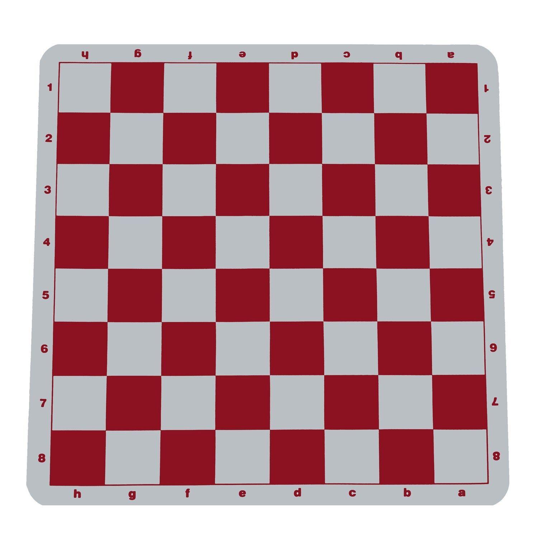 RED SILICONE CHESS BOARD - TOURNAMENT SIZE - 2 1 4  Sq