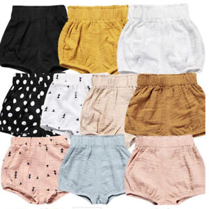 UK Infant Baby Boy Girl Nappy Cotton Shorts PP Pants Bloomer Diaper Cover Briefs