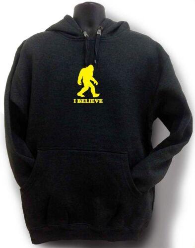 Fleece Believe Sasquatch I Bigfoot Hoodie Printe Pullover Hipster Men's Funny Nw IEqztt