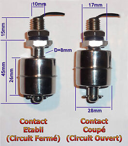capteur niveau liquide