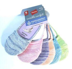 Hanes-Women-039-s-Invisible-Comfort-Ballerina-Liner-Light-Colors-6-Pack-HC726B-NEW