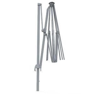 Sonnenschirm-Gartenschirm-Schirm-Gestell-rund-3-5m-Aluminium-Anthrazit-B-Ware