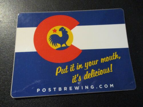 THE POST BREWING CO Lafayette Colorado Flag STICKER decal craft beer brewery
