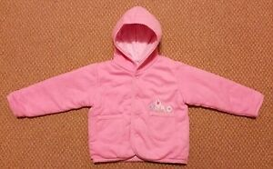 Baby-girl-top-hooded-pink-jacket-coat-M-amp-S-age-3-6-months