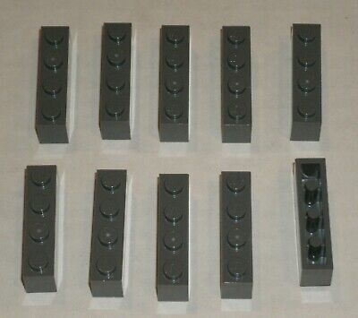 Lego 3010 Brick 4x1 x5pcs Dark Stone Gray