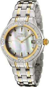 Invicta-0267-Wildflower-Classique-Date-MOP-Dial-Diamond-Bezel-Womens-Watch