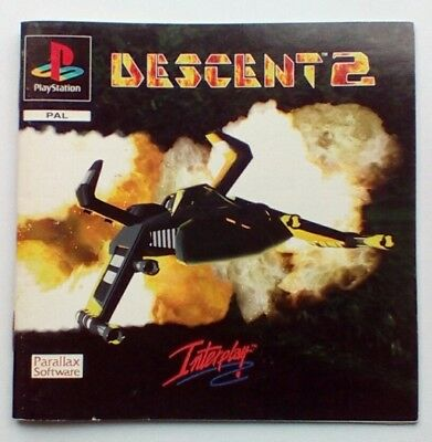 *instructions Only* Descent 2 Instruction Manual Ps1 Psone Playstation 1 One