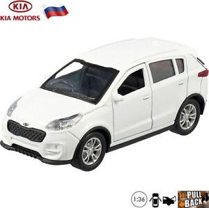 Diecast-Compact-SUV-Scale-1-36-Kia-Sportage-White-Russian-Model-Toy-Cars