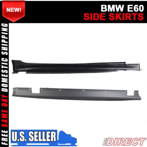 Side Skirt Extension Splitters For 04-10 BMW E60 E61 5-Series Side Skirts