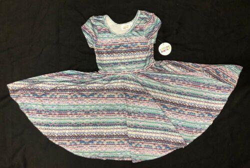 5//6 Neuf avec étiquettes Dot Dot sourire Cup Tourbillons robe Summer Knit fille à manches courtes