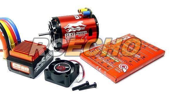 CieloRC CHEETAH 1600KV 21.5T Sensorosso Brushless Motor  & CS60 60A ESC Combo ME630  più ordine