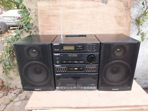Sony-Model-FH-414-BoomBox-With-2-Detachable-Speakers-Phono-Made-In-Japan-VGC