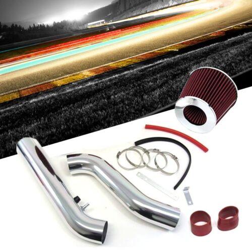 JDM Cold Air Intake Kit Polish Pipe /& Red Filter for Honda 96-00 Civic EX HX