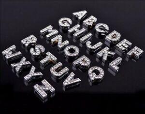 Fashion-26PCS-10MM-DIY-Slide-Charm-Rhinestone-Letters-A-Z-Fit-Pet-Collar-belts