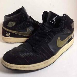 AIR-JORDAN1-Men-039-s-Sneakers-MID-WHITE-SOX-MLB-29cm-US-11-Black-Major-League