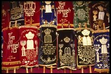 122020 Colorful Torah Covers Great Jerusalem Synagogue A4 Photo Print