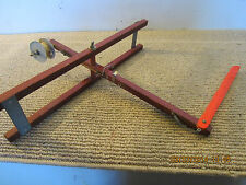 HAND MADE, WOOD ICE FISHING TIP UP ROD & REEL