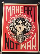 SHEPARD FAIREY Make Art Not War Peace Girl OBEY GIANT poster official