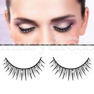 0552cef7a43 Baci Black Eyelashes Silver Gems Fancy Dress New Years Party False ...