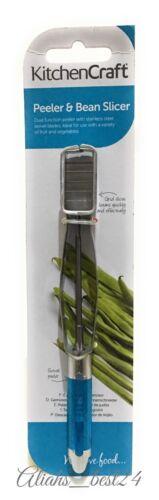 Kitchen Craft Potato Vegetable Peeler With Runner Bean Slicer Stainless Steel.