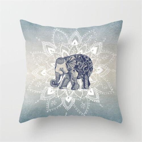 Mandala imprimé Throw Pillow Case Sofa Cushion Cover Home Decor cadeau 45x45cm