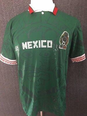 Sports Mem, Cards & Fan Shop Mexico Futbol Soccer Men's Polo Short Sleeve 40 Shirt Euc